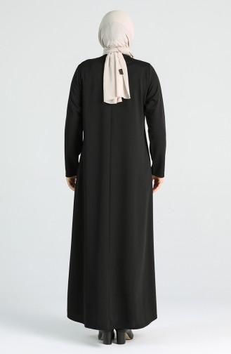 Robe Hijab Noir 4756-01