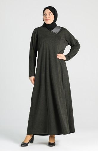 فستان كاكي 4757-04