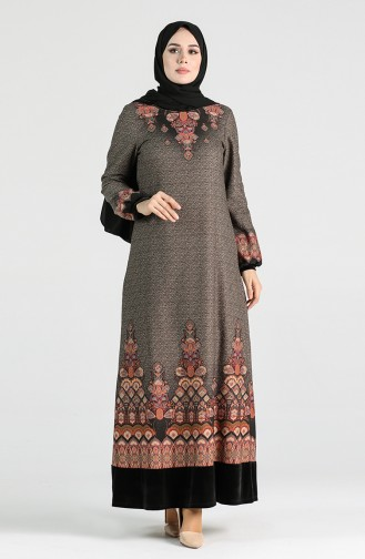 Patterned Dress 20k3022700-01 Black 20K3022700-01