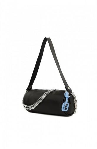 Bagmori Ribbed Mini Duffle Bag M000005292 Black 8682166063321