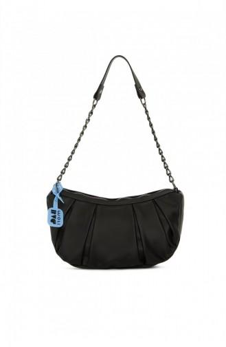 Bagmori Pleated Chain Mini Bag M000005288 Black 8682166063277