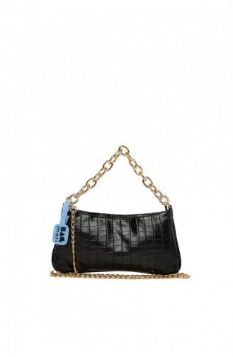 Bagmori Soft Textured Chain Baguette M000005261 Black 8682166062973