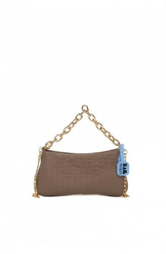Bagmori Soft Textured Chain Baguette M000005261 Mink 8682166063000