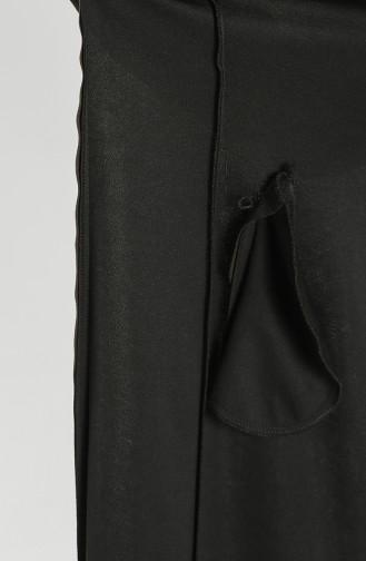 Plus Size Hooded Long Coat 0126-02 Khaki 0126-02