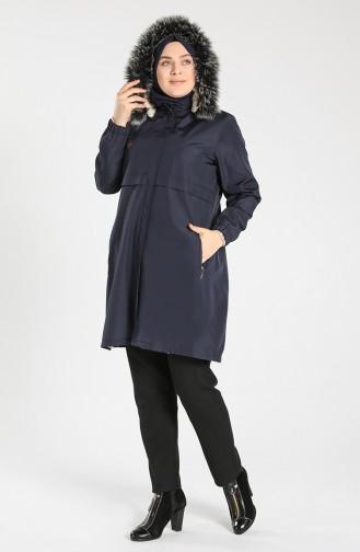 معطف أزرق كحلي 8102-01