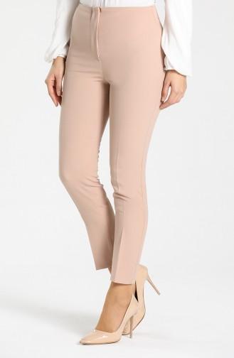 Straight Leg Classic Trousers 1002-02 Beige 1002-02