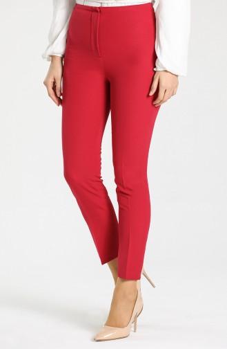 Straight Leg Classic Trousers 1002-04 Burgundy 1002-04