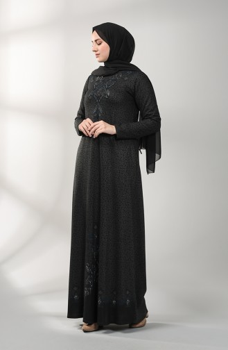 Embroidered Dress 20k3022102-02 Black 20K3022102-02
