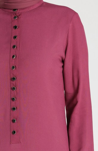 Buttoned Viscose Tunic 1810-03 Dried Rose 1810-03