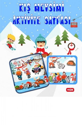 4 Sets Of 50 Pieces Tox Four Seasons Felt Velcro Activity Sheet Kids Activity Educational Toy T050200001 050200001