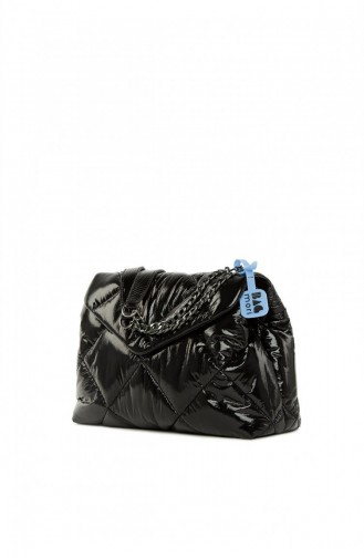 Bagmori Quilted Inflated Cover Bag M000005304 Black 8682166063437