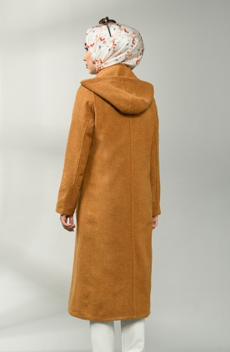 Buttoned Stamp Coat 2133-09 Mustard 2133-09
