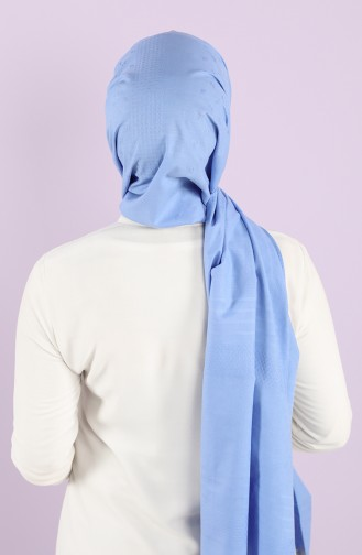 Self-patterned Cotton Shawl 4887-01 Blue 4887-01