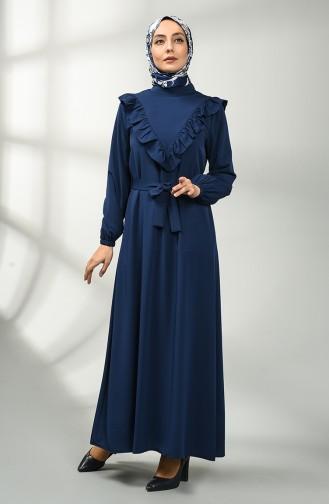 فستان أزرق كحلي 1323-02