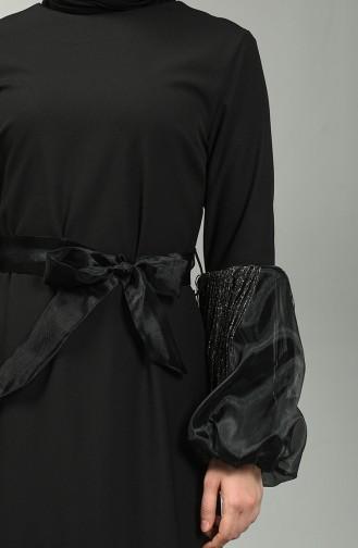 فستان أسود 60120-03