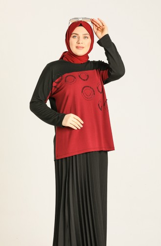 Claret red Blouse 8929-01