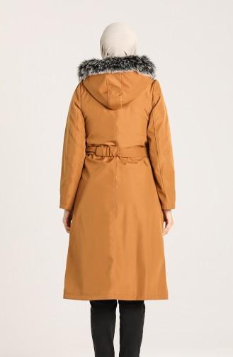 معطف أصفر خردل 1003-01
