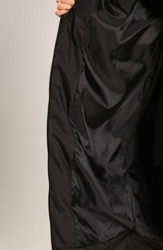 Fermuarlı Kapitone Mont 22414-01 Siyah