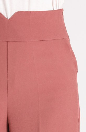 Classic Wide Leg Trousers 1006-04 Dried Rose 1006-04
