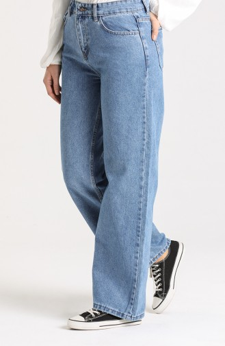 Jeans with Pockets 7509-03 Denim Blue 7509-03