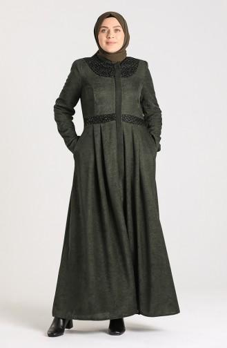 Dark Green Overjas 1571-01