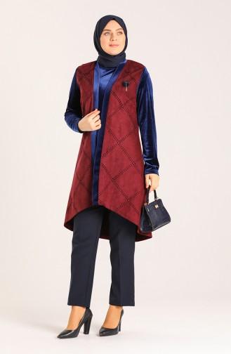 Necklace Tunic Vest Double Suit 8k6818301-01 Navy Blue 8K6818301-01