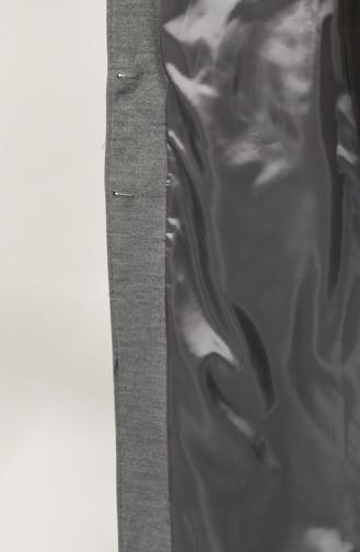 Fur Belted Stamp Coat 4961-01 Gray 4961-01