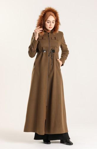 Fur Cachet Long Coat 1001-12 Tobacco 1001-12