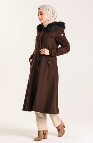 معطف طويل بُني 1020-05
