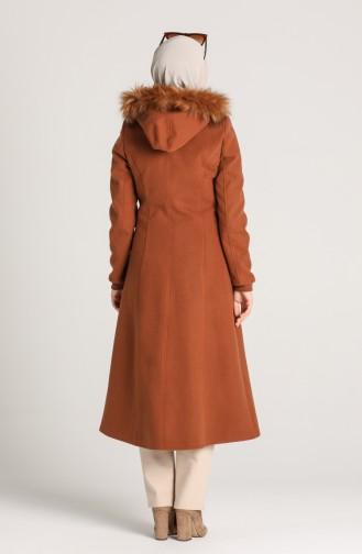 Furry Cashmere Coat 1020-06 Cinnamon Color 1020-06