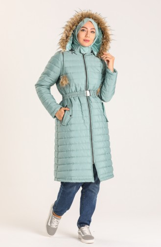 Hooded Quilted Coat 5095-06 Green 5095-06