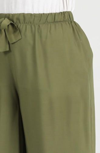Elastic Cotton Pants 20014-01 Khaki 20014-01