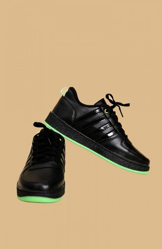 Black Striped Women s Sneaker Sm7001 700-1