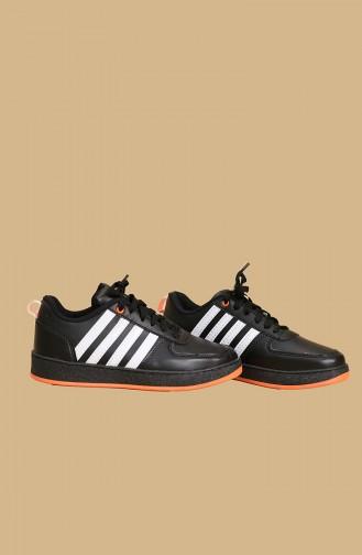 Black and White Striped Women s Sneaker Sm7005 700-5