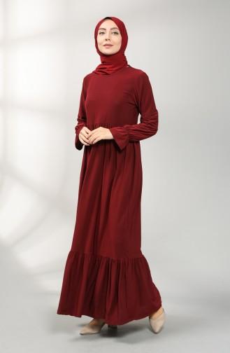Pleated Dress 1938-04 Burgundy 1938-04