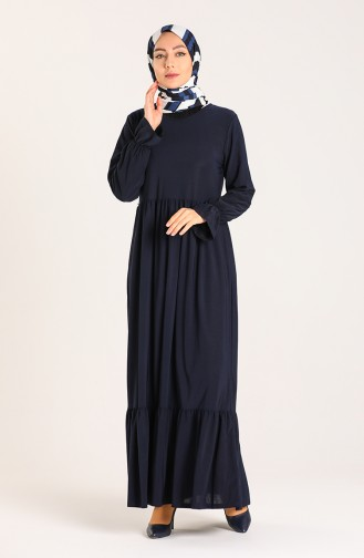 Pleated Dress 1938-05 Navy Blue 1938-05