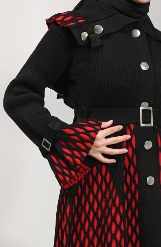 Knitwear Garnished Tunic 9112-01 Black 9112-01