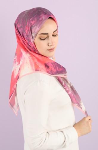 Karaca Patterned Soft Scarf 90731-06 Pink Purple 90731-06