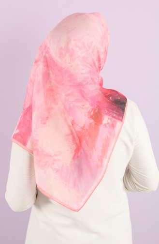 Karaca Patterned Soft Scarf 90731-07 Powder Phosphorescent Pink 90731-07