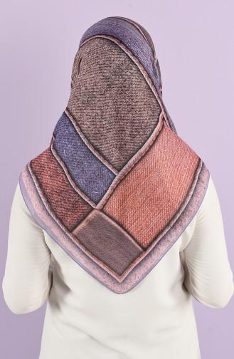 Karaca Patterned Soft Scarf 90738-06 Lilac Powder Pink 90738-06