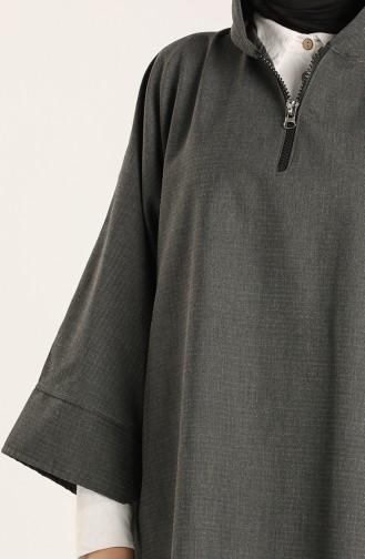 Dark gray Poncho 9025D-01