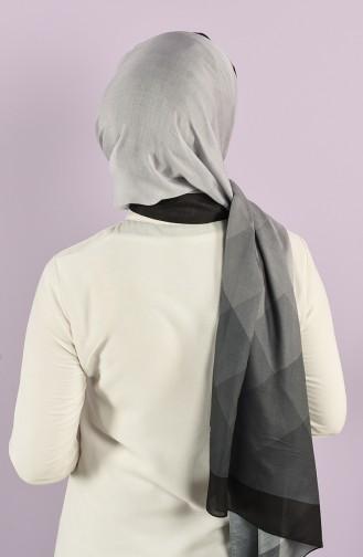 Patterned Cotton Shawl 95353-04 Black Smoked 95353-04