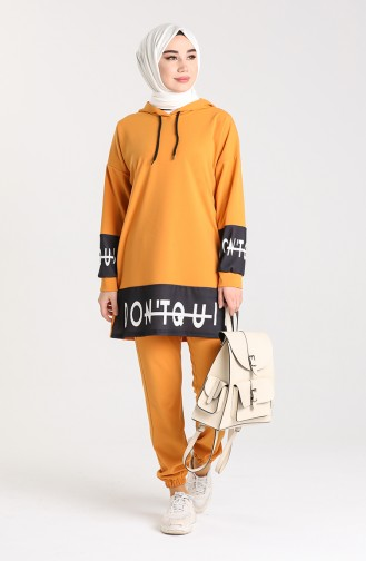 Scuba Fabric Tunic Trousers Double Suit 0435-03 Mustard 0435-03