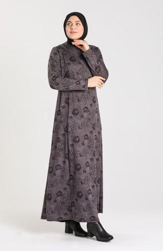 Dark Purple İslamitische Jurk 0413-04