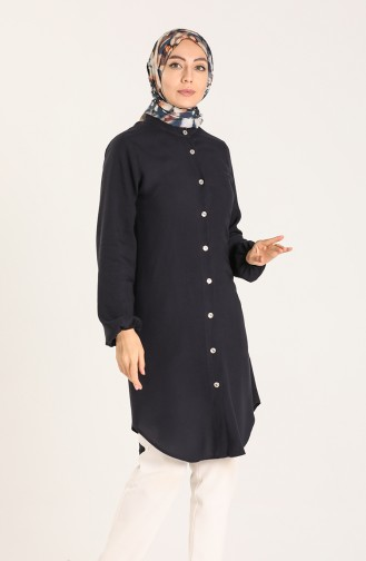 Judge Collar Tunic 3174-04 Navy Blue 3174-04