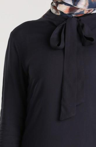 Tie Collar Tunic 3175-06 Navy Blue 3175-06
