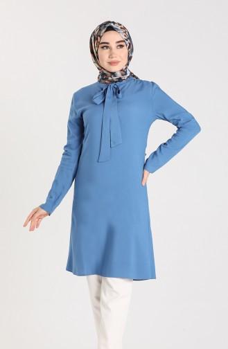 Tie Collar Tunic 3175-09 Indigo 3175-09
