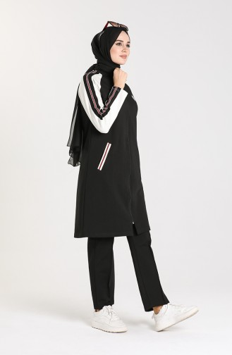 Zippered Tracksuit 1060s-04 Black 1060S-04