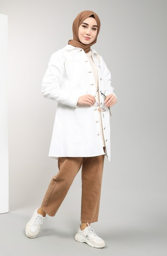 White Trench Coats Models 8284-03