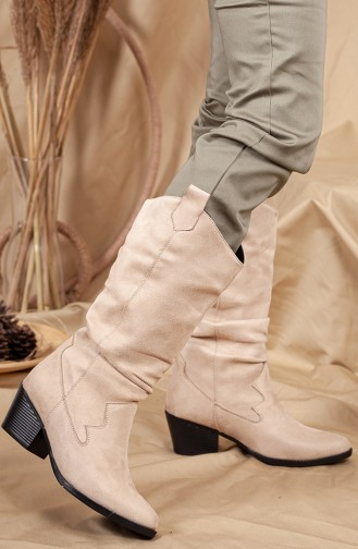 Skin Color Boots-booties 0520-02